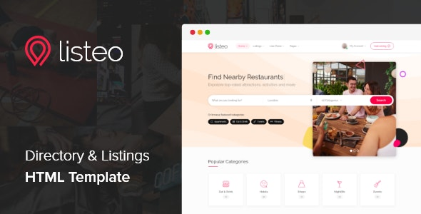 Listeo - Directory & Listings HTML Template - Business Corporate