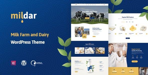 Mildar - Dairy Farm & Milk WordPress Theme