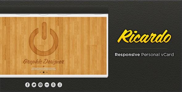 Ricardo - Responsive Personal vCard - Virtual Business Card Personal