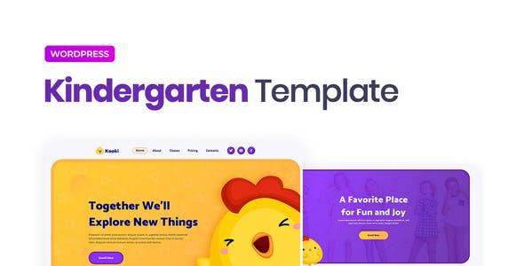 Kooki – Kindergarten Elementor Template Kit