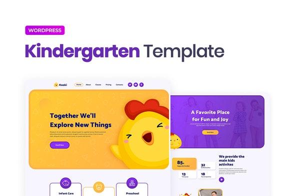 Kooki – Kindergarten Elementor Template Kit - Kids & Babies Elementor