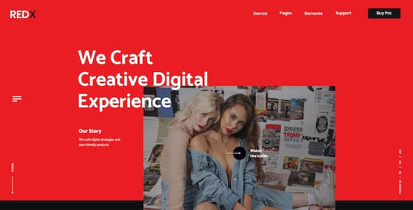 RedX Multipurpose Website Collection PSD