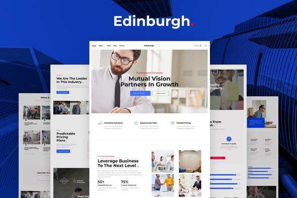 Edinburgh – Multipurpose Corporate Template Kit - Business & Services Elementor