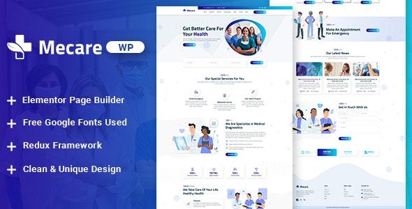 Mecare – Hospital and Health WordPress Theme - Health & Beauty Retail