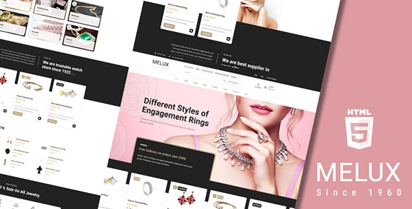 Melux - Jewelry HTML Template - Retail Site Templates