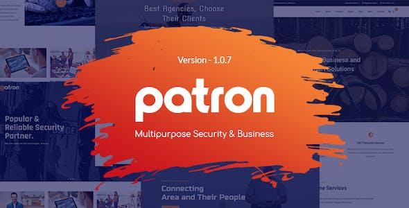 Patron - Security Service Company HTML Template