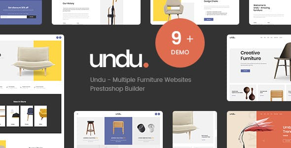 Undu - The Furniture Store Prestashop Theme 1.7.7.x