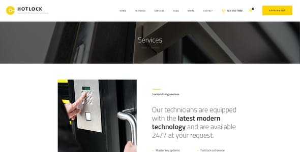 HotLock   Locksmith & Security Systems WordPress Theme