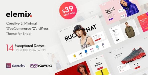 Elemix - Modern & Creative Elementor WooCommerce Theme - WooCommerce eCommerce