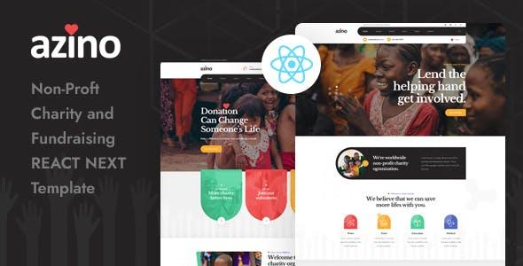 Azino - React Next Nonprofit Charity Template
