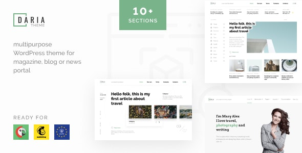 Daria - Blog & News WordPress Theme - Blog / Magazine WordPress