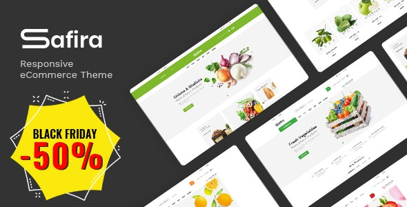 Safira - Food & Organic Responsive Prestashop Theme - Shopping PrestaShop