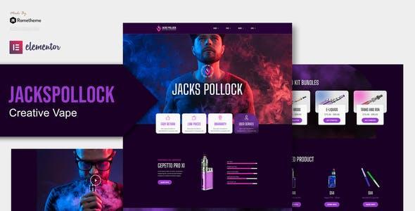 Jacks Pollock - Vape Elementor Template Kit