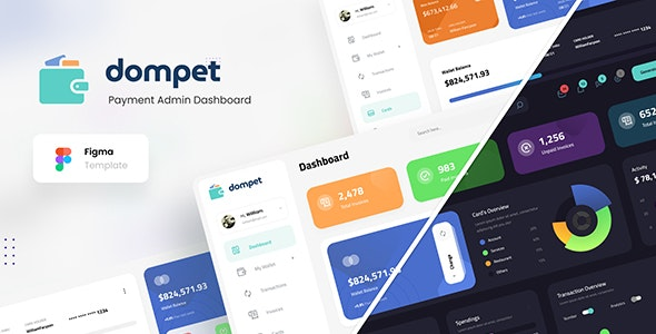 Dompet - Payment Admin Dashboard UI Template Figma - Miscellaneous Figma