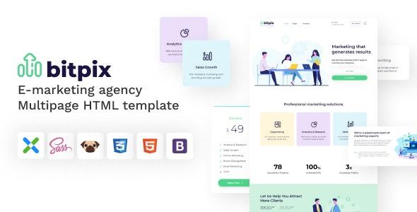 Bitpix - HTML5 E-marketing Agency Template - Marketing Corporate