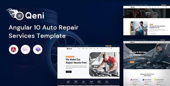 Qeni - Angular Auto Repair Services Template - Business Corporate