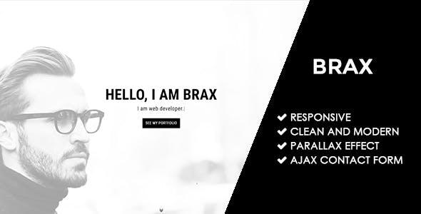 Brax   Responsive Personal Portfolio Template