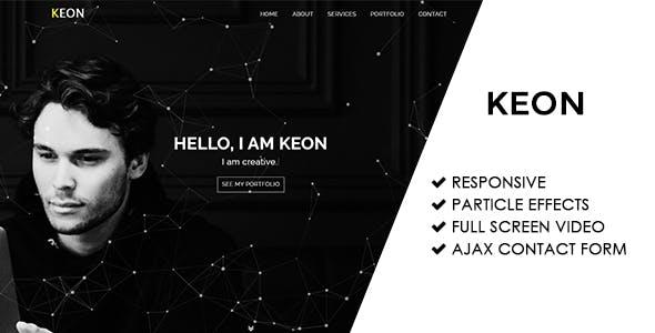 Keon   Responsive Personal Portfolio Template