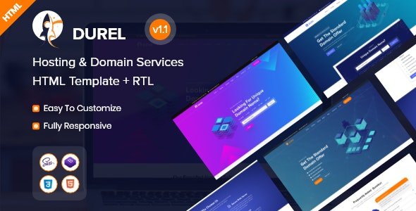 Durel - Hosting & Domain Services HTML Template - Hosting Technology