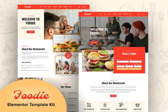 Foodie - Fast Food Elementor Template Kit - Food & Drink Elementor