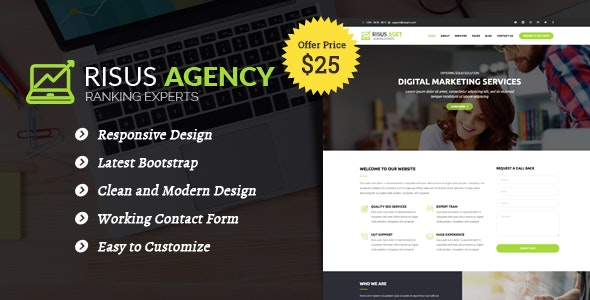 Risus Agency - SEO and Digital Marketing WordPress Theme - Marketing Corporate