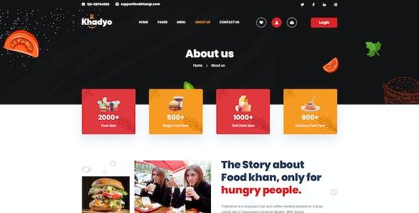 Khadyo - Restaurant PSD Template