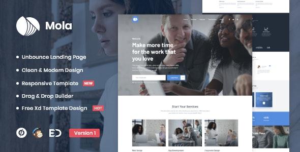Mola - MultiPurpose Unbounce Landing Page Template - Unbounce Landing Pages Marketing