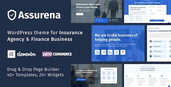 Assurena - Insurance Agency WordPress Theme - Business Corporate