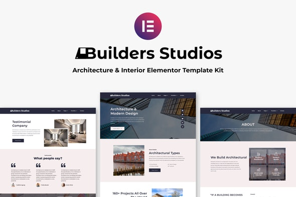 5Builders Studios - Architecture & Interior Elementor Template Kit - Real Estate & Construction Elementor