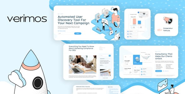 Verimos – Tech Startup & Digital Company Template Kit