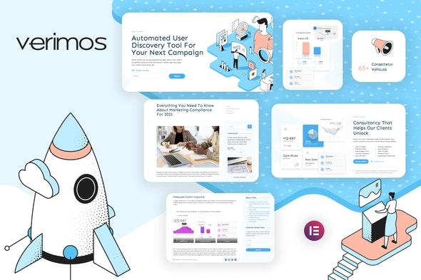 Verimos – Tech Startup & Digital Company Template Kit - Business & Services Elementor