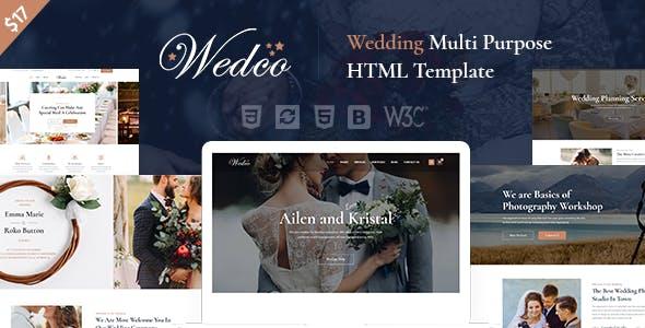 WedCo - Wedding HTML Template
