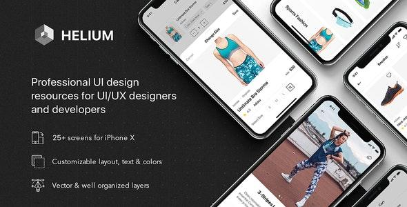 Helium - Fashion UI Kit for Sketch - Sketch UI Templates