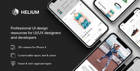 Helium - Fashion UI Kit for Sketch