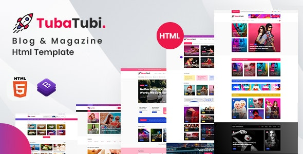 TubaTubi - Blog & Magazine Html Template - Entertainment Site Templates