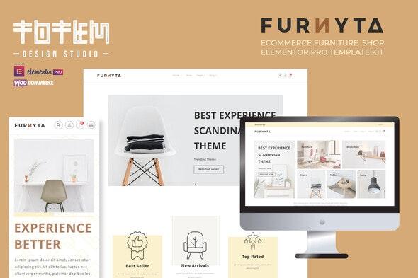 Furnyta - Ecommerce Furniture Shop Elementor Template Kit - Shopping & eCommerce Elementor