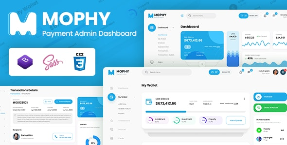 Mophy - Payment Admin Dashboard Bootstrap Template - Admin Templates Site Templates