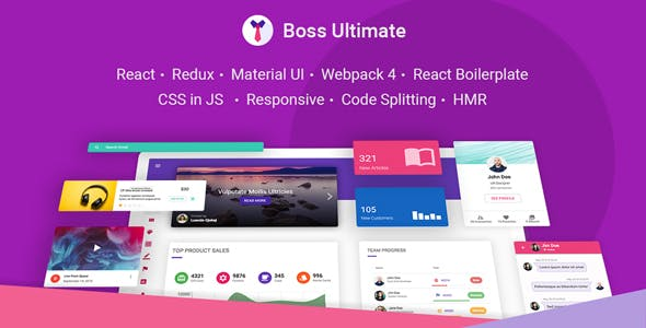 Boss Ultimate - React Admin Template Material Design