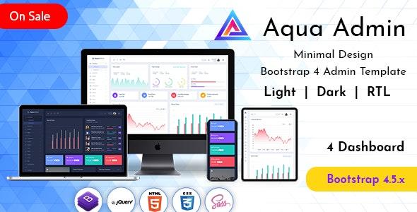 Aqua Responsive Admin Template Dashboard Web Apps - Admin Templates Site Templates