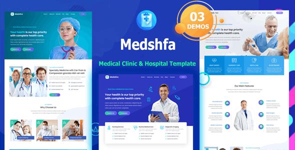 Medshfa - Medical Doctor Clinic & Hospital Template - Health & Beauty Retail