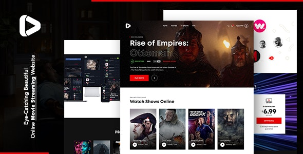 Digiflex   Online Movie Streaming HTML Template - Technology Site Templates