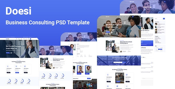 Doesi-Business Consulting PSD Template - UI Templates