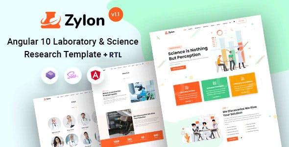 Zylon - Angular 10+ Research & Laboratory Template