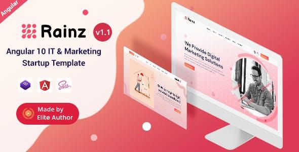 Rainz - Angular 10+ IT & Marketing Startup Template