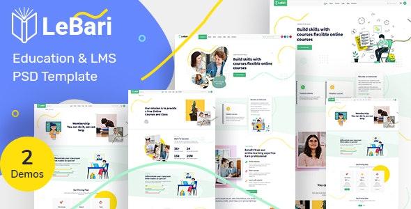 LeBari- Education & LMS PSD Template - UI Templates