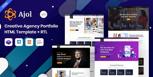 Ajol - Creative Agency Portfolio HTML Template