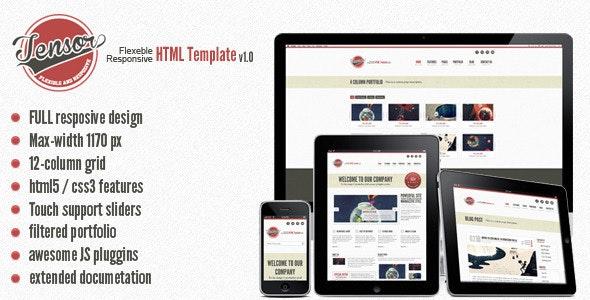 Tensor - Responsive HTML Template - Creative Site Templates