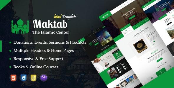 Maktab - Islamic Institute Responsive HTML Template - Churches Nonprofit