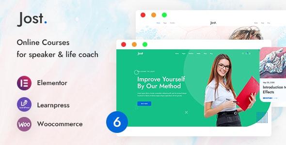 Jost - Coaching & Online Course WordPress Theme - Education WordPress