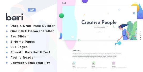 Bari - Portfolio and SEO /Digital Agency WordPress Theme - Portfolio Creative